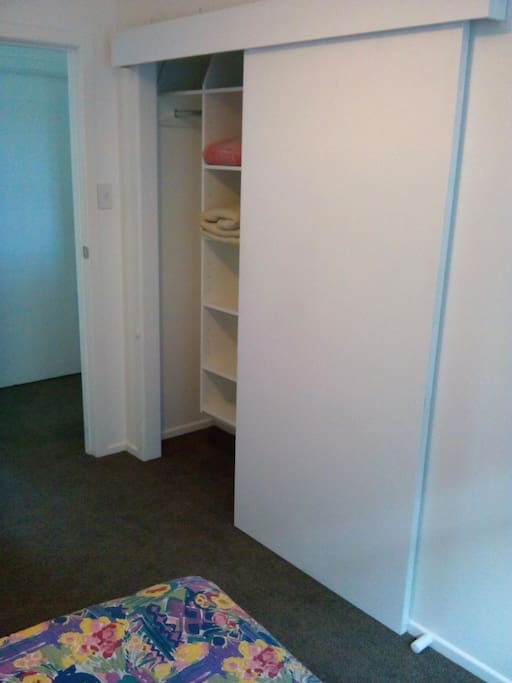 Wardrobe to put your belongings and clothes