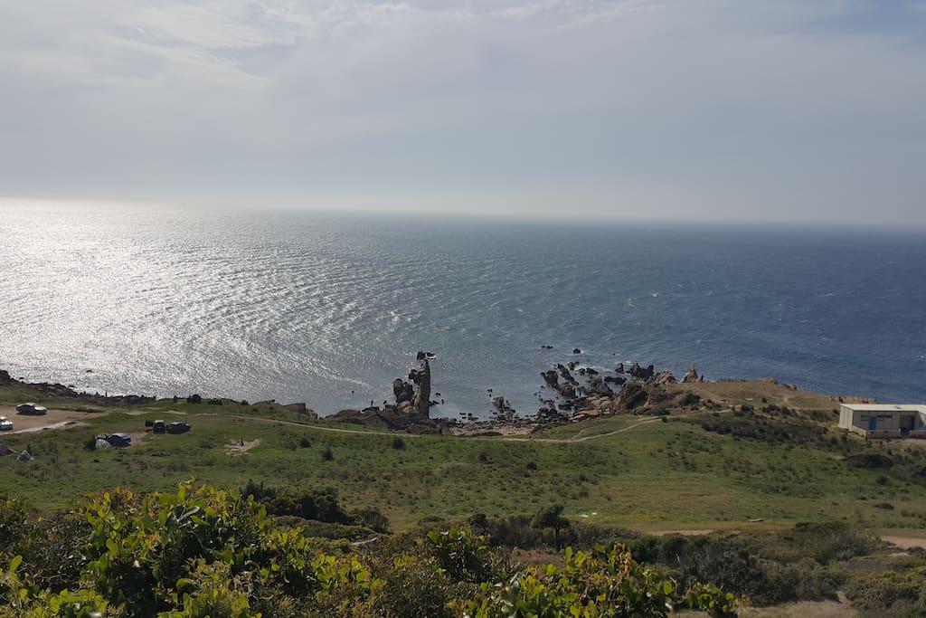 crique sur l'océan atlantique