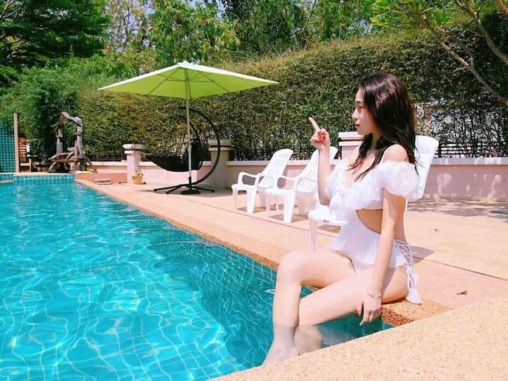 SummerTime2号 清迈市区  泳池别墅带保姆(三天含接机)(有多套 可咨询不同档期)