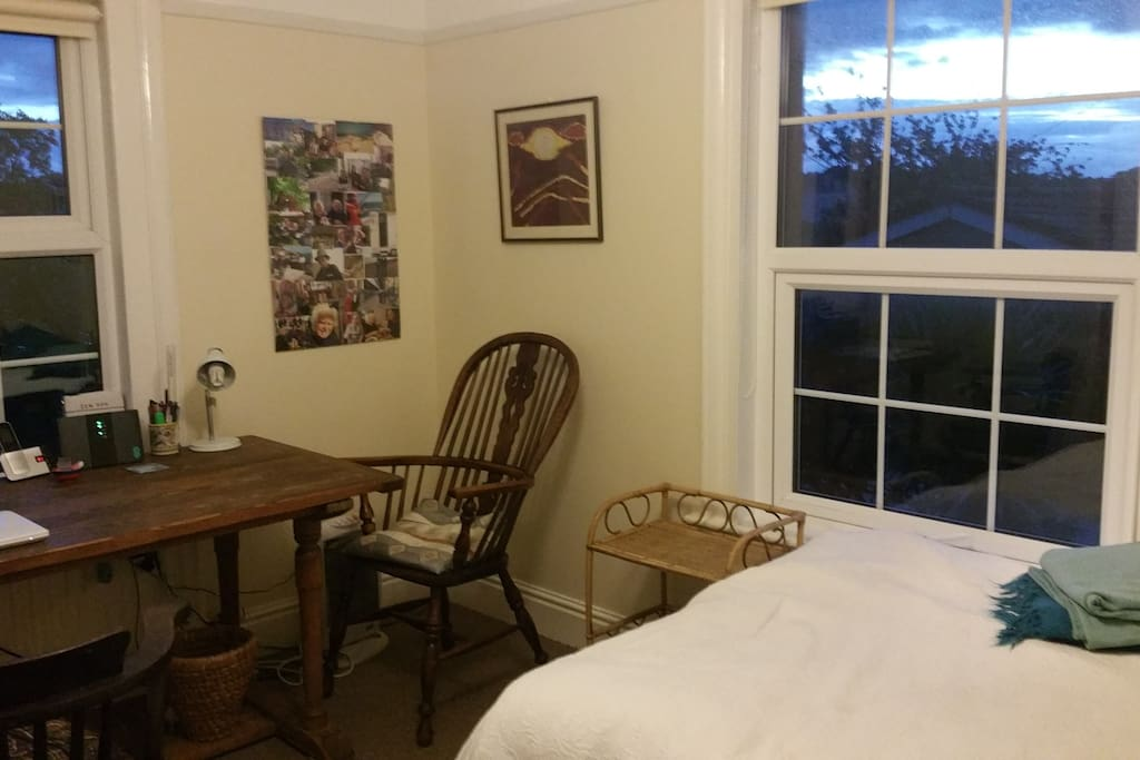 sunny double aspect guest room