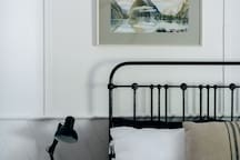 Queen room number 3 with antique cast iron bed
