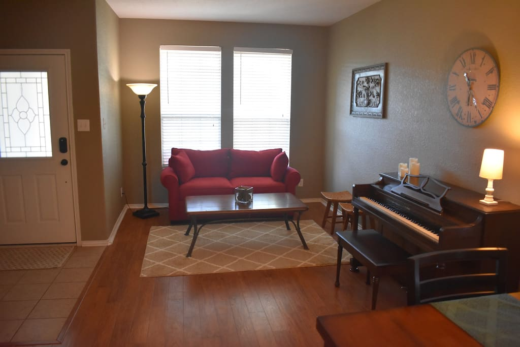 Living Room/Seating Area with Piano.