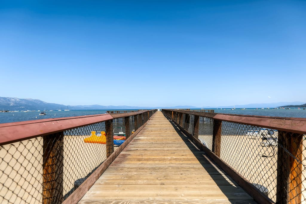 Take a stroll down the Lakeland Village pier for more stunning views