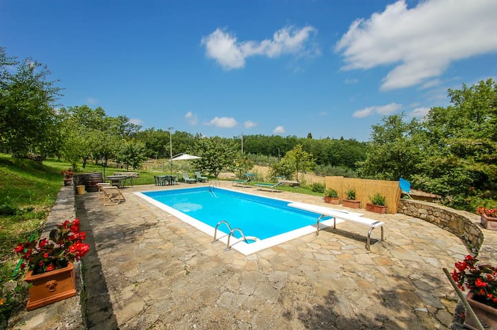 House with private pool 40km from Florence/Siena