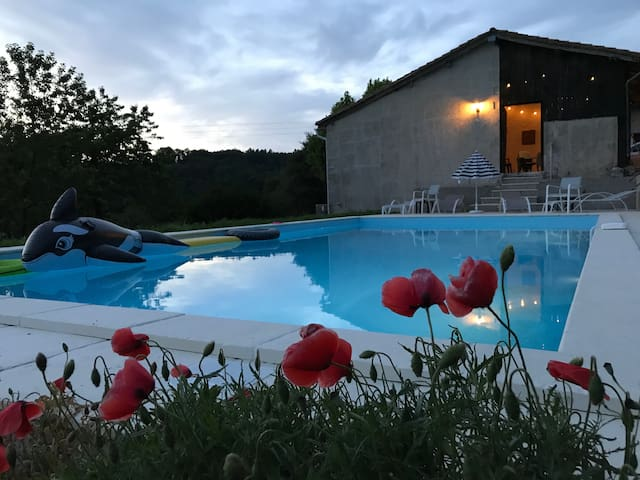 Beautiful countryside property with heated pool.