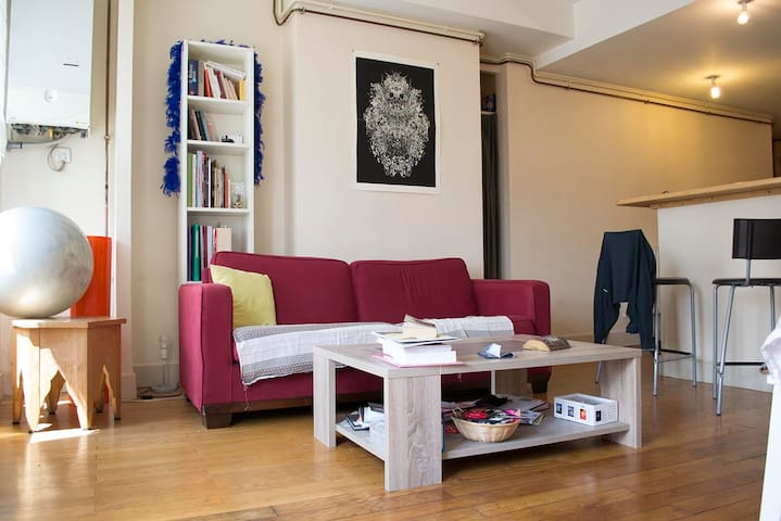 A double-bed in a lively neibourghood - Lyon - Apartamento