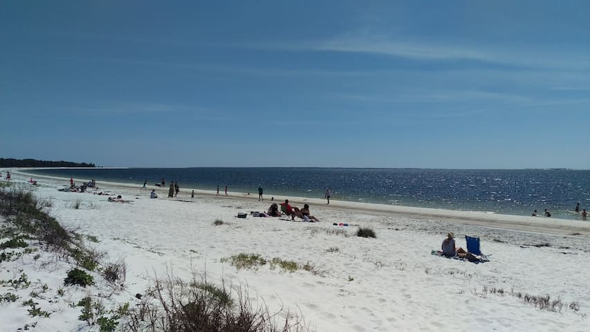 Carrabelle Beach day right across the street from SandCastle