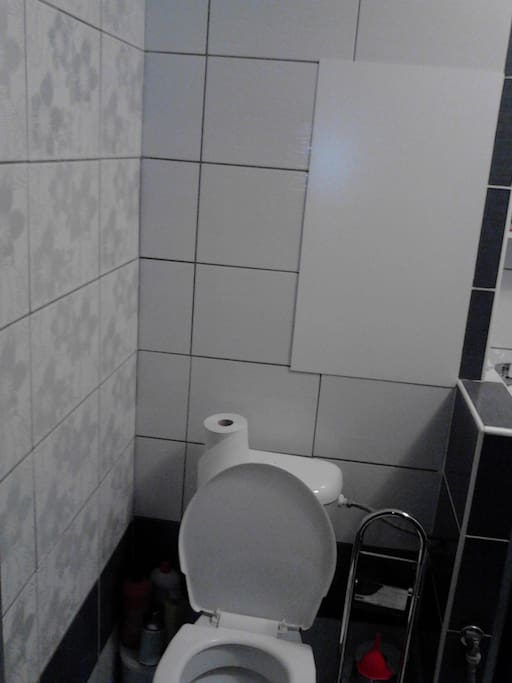 Sprchový kout + WC