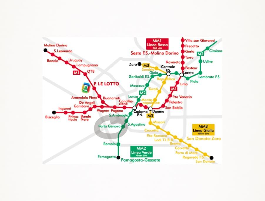 A pochi passi dalla Metropolitana , linea verde M2, Porta Genova.