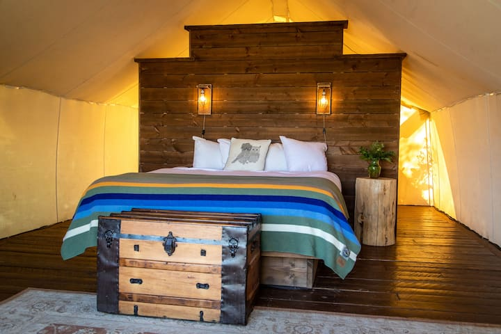 Beautiful Couples Glamping Tent
