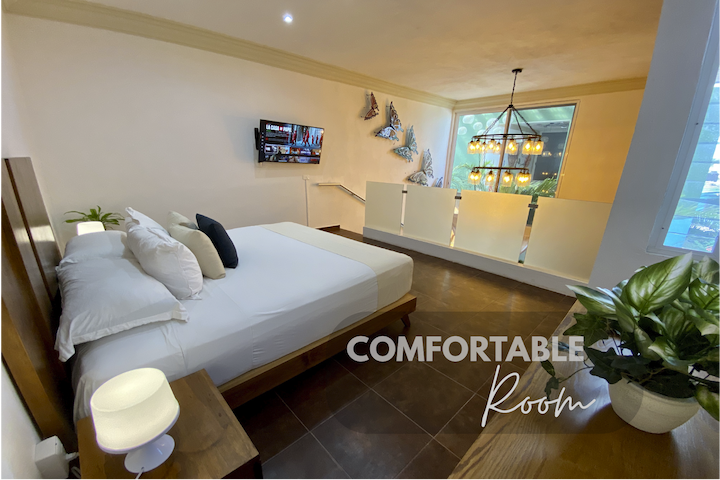 Room is equipped with all necessary for a comfortable and pleasant stay.