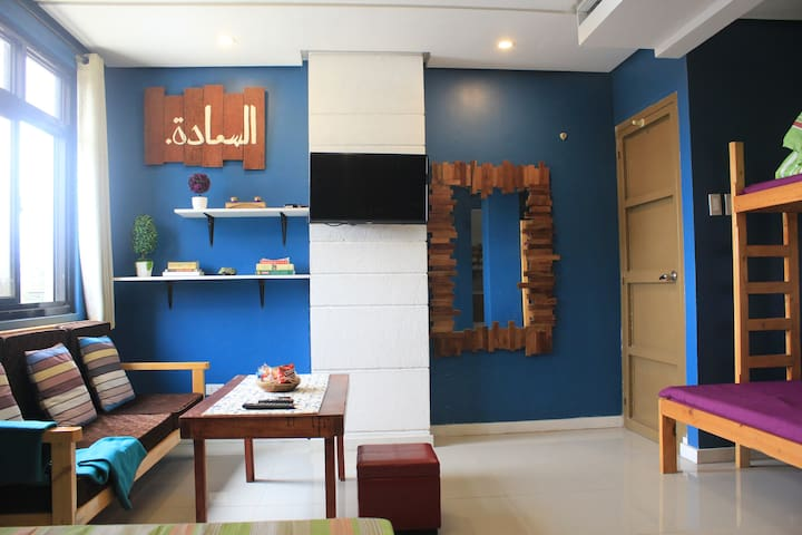 BAGUIO CITY'S BOMB SHELTER BLUE ROOM FOR TRANSIENT