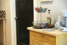 The door to the laundry room-- help yourself to our cleaning supplies and laundry soap!
