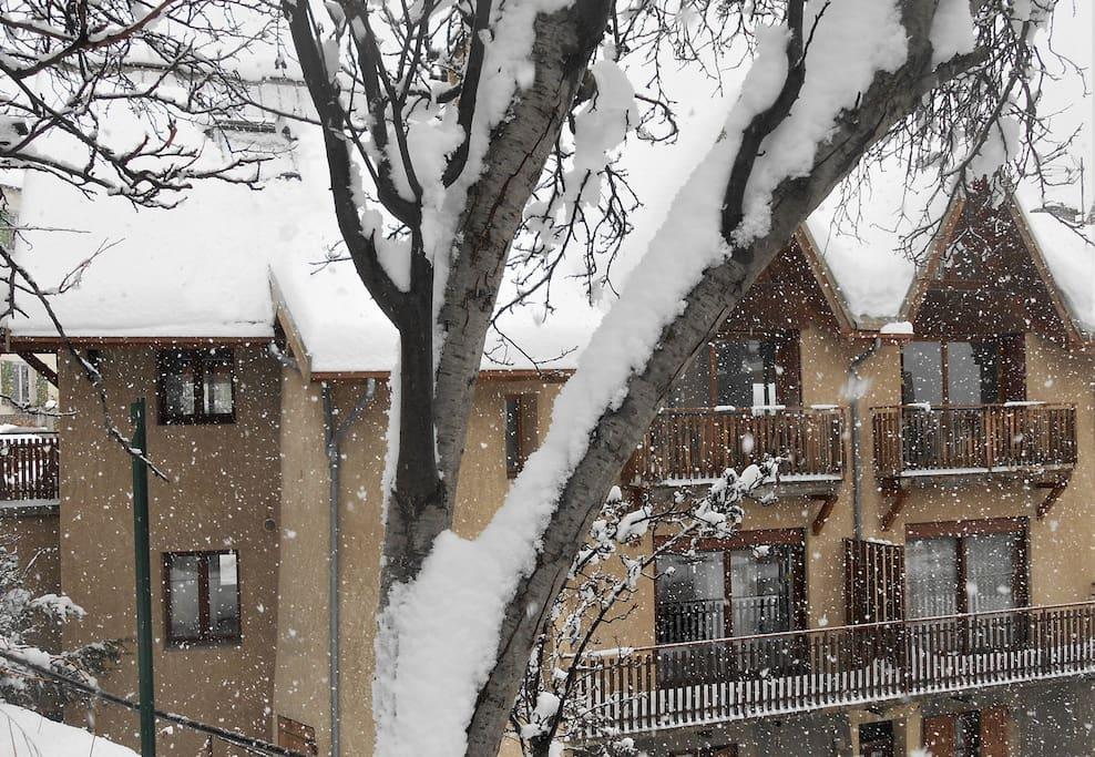 façade ouest vue du balcon