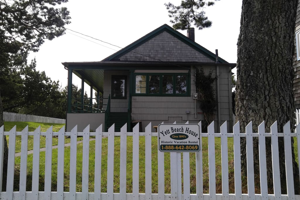 The Historic Yett House. It is an authentic vintage sea cottage!
