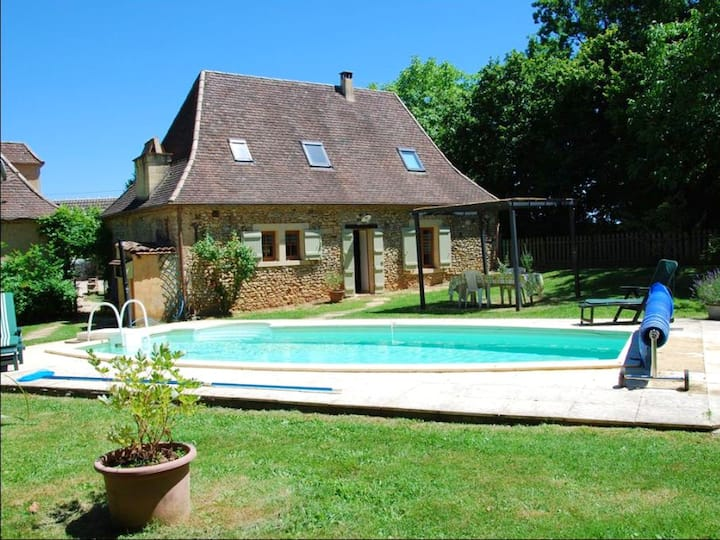 House with one bedroom in Sainte-Alvère, with private pool, furnished garden and WiFi