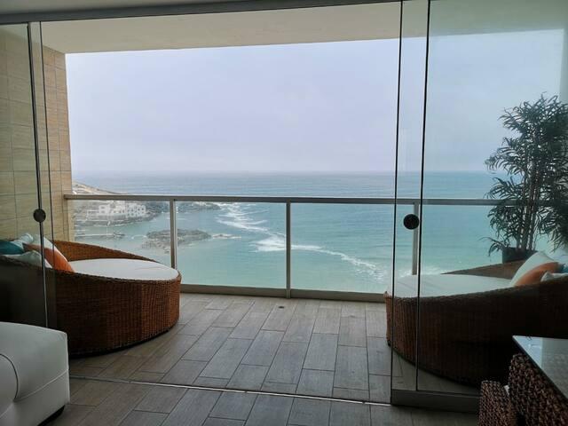 Hermoso duplex Frente al Mar C/piscina San Bartolo