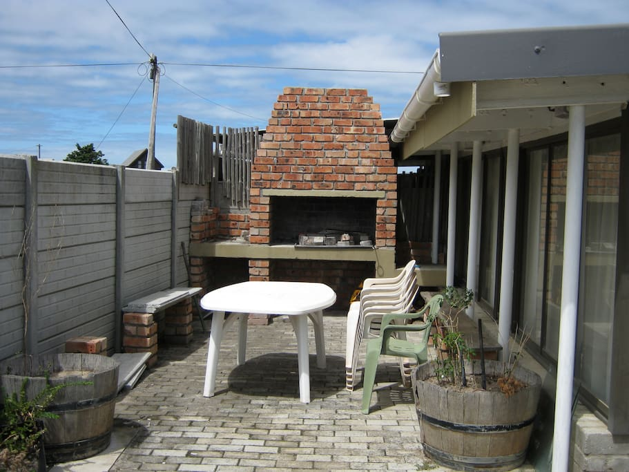Barbecue area with furniture