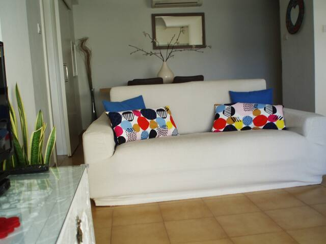 88sqm bright open plan apartment. Very comfortable and spacious.