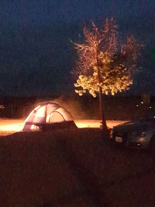 Firebom in evening and campsite ...our guest pitch thier own tent .....guest's this site is camping ...campimg and RV park