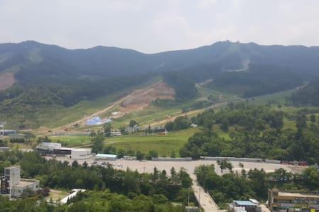 평창 봉평 멋진 전망 & 위치 아파트 Great View & location Apt. - 平昌郡