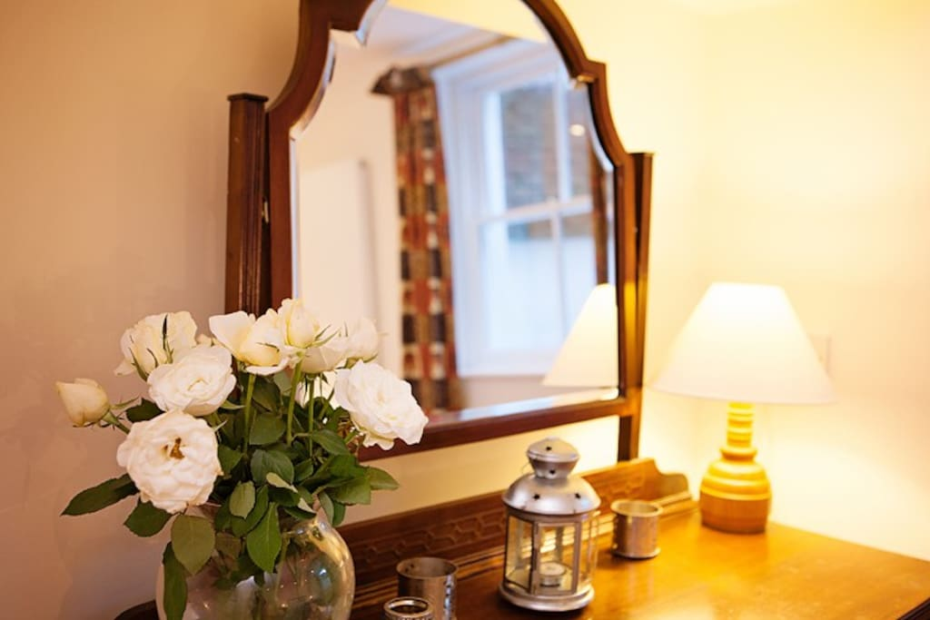 The dressing table is ideal for those last minute touches