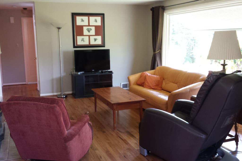 Smart TV and Massage Chair make for Living Room enjoyment