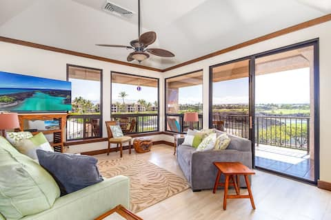 Shores at Waikoloa 317.  Spacious lanai and newly remodeled.