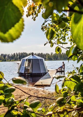 Our hut can used as a boat