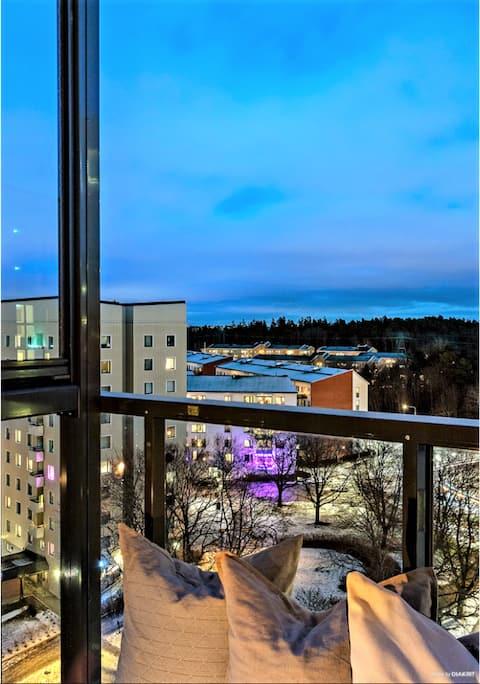 Astonishing apartment on 9 floor & 2 min to metro
