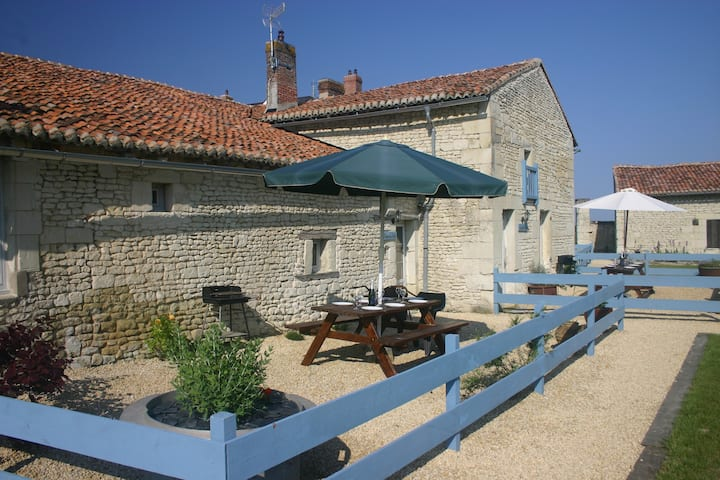 Two gites of character, with pool & games room