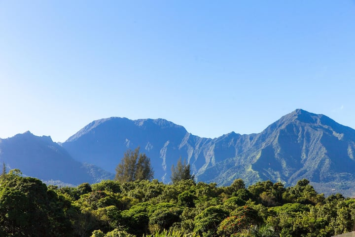 5 minute drive to Hanalei Bay, Gorgeous mountain and waterfall views - Villas of Kamalii 47