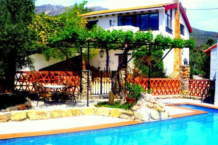 Casa rural excelente, piscina y magnificas vistas