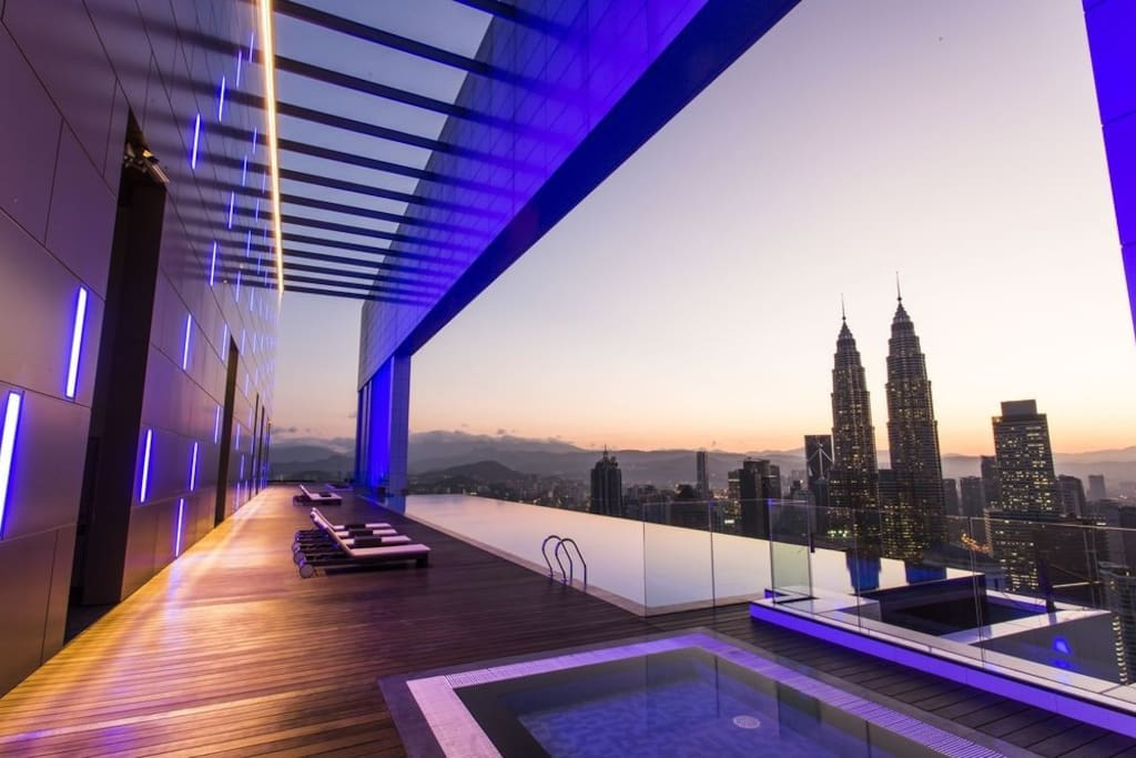 Highest Infinity Pool in KL @ Platinum Suites (Also Known as The Face Suites)