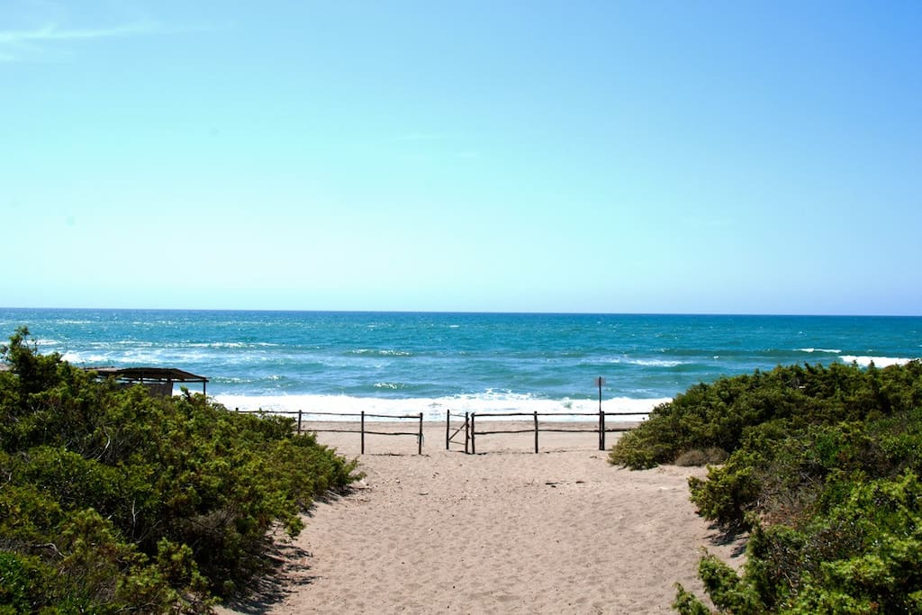 Capalbio's beautiful sandy beaches, just 4.8 miles away (7 km) from the villa