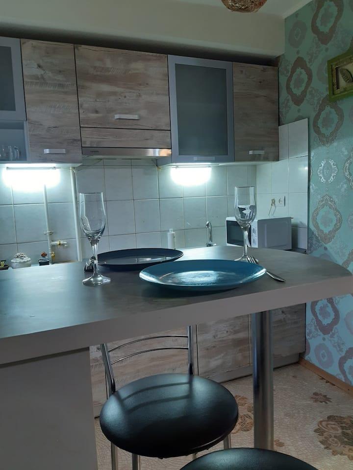 Тёплая, уютная, чистая, светлая, квартира-студия