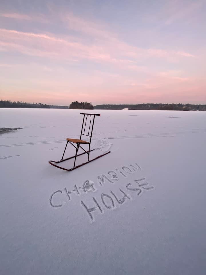 Champion House Сосново  коттедж на берегу озера