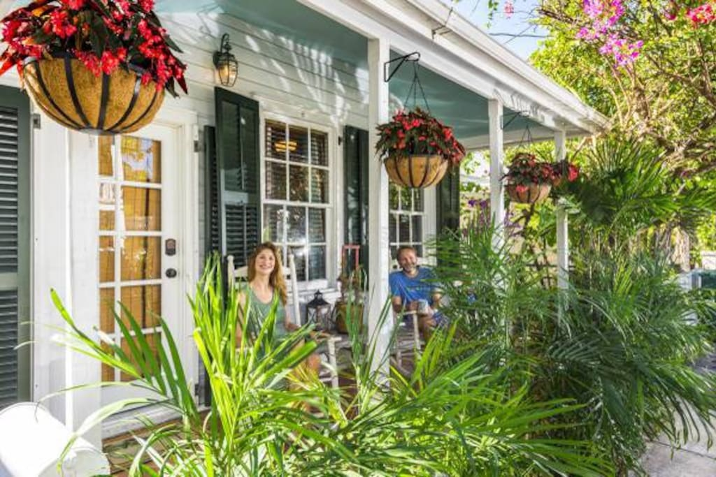 Beautiful front porch for people watching