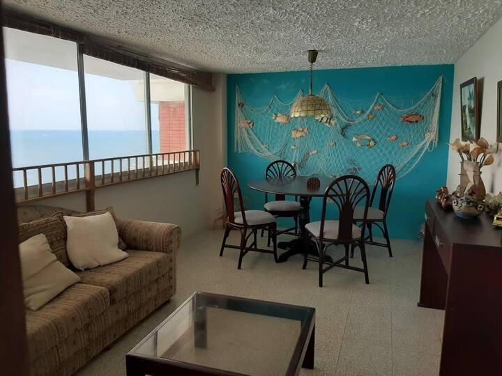 Departamento frente al mar 7mo piso hermosa vista.
