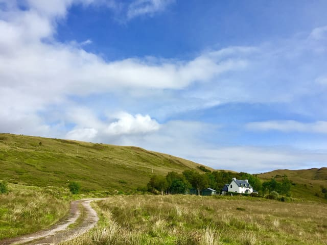 Kinbreac (house on the hill, overlooking the loch)