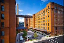 The iconic buildings of the Cork Factory Lofts.