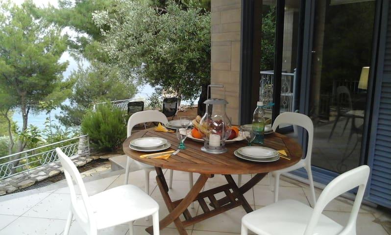 Linovrohia villa and guest house in Ionian islands - Kalamos - Hus