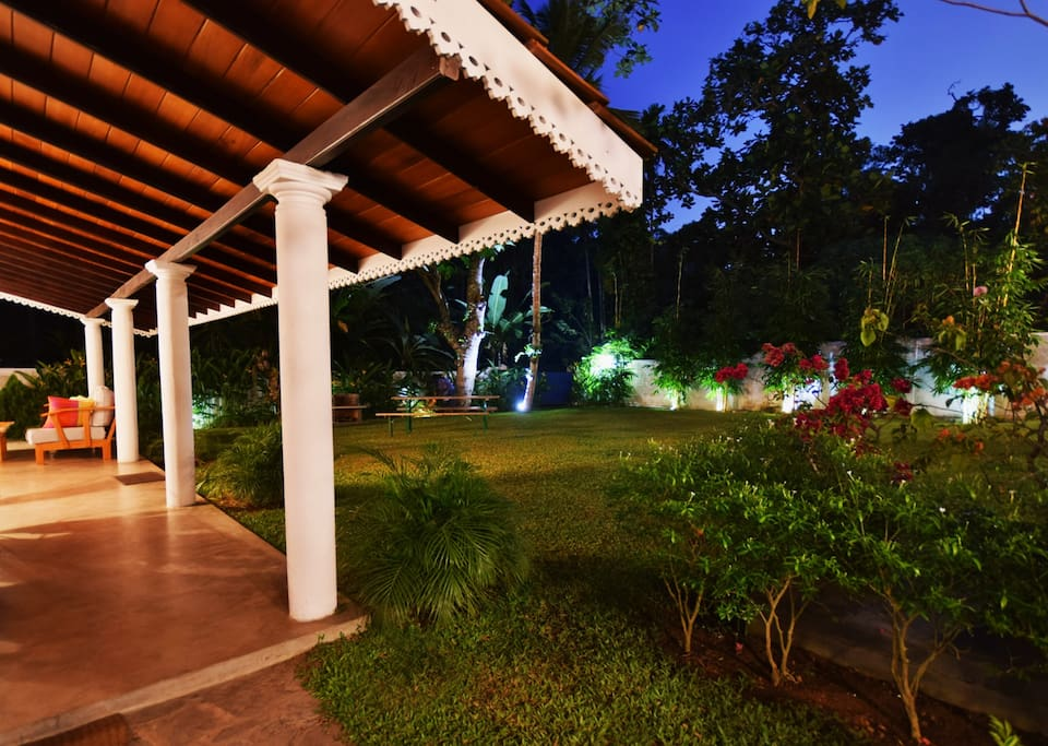 Veranda at night