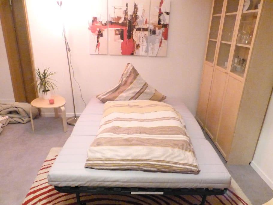 Wohnbereich mit Schlafsofa