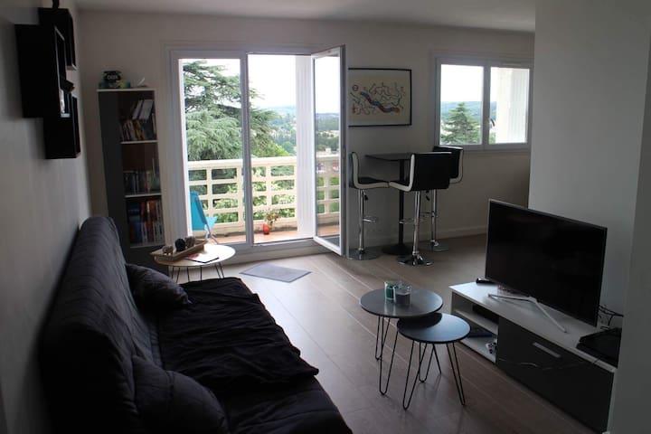 Appartement lumineux avec vue.