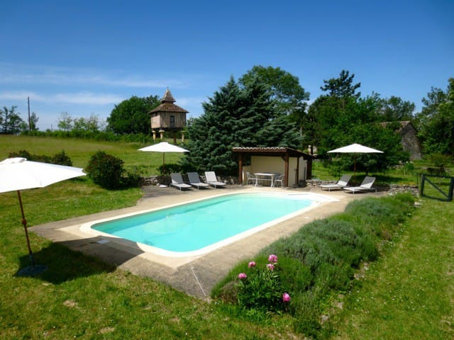 Charming Stone Farmhouse with Private Pool - Caylus - Altres