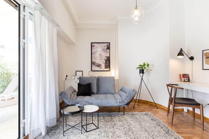 Classy Luminous 1BD Apartment in Kolonaki