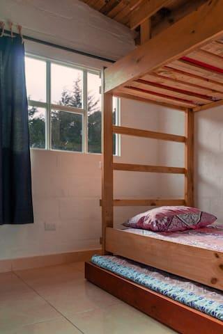 Habitación 2 (3 camas individuales)