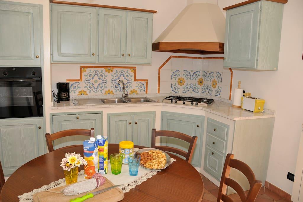 Kitchen.. Imagine a tasty bruschetta! :P