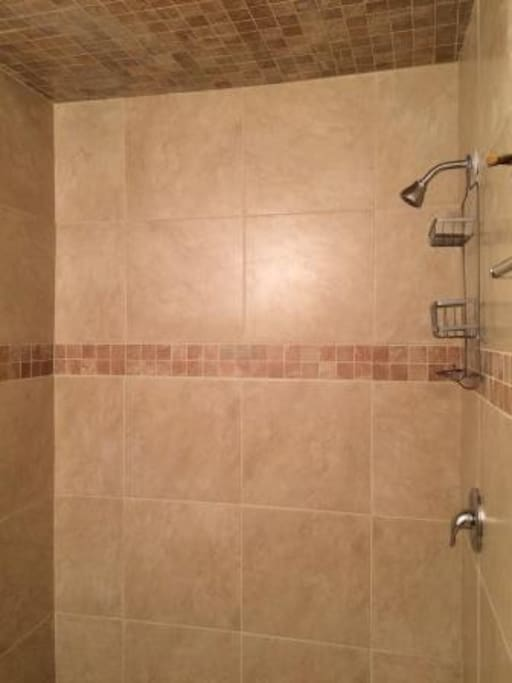 Newly remodeled upstairs bathroom shower